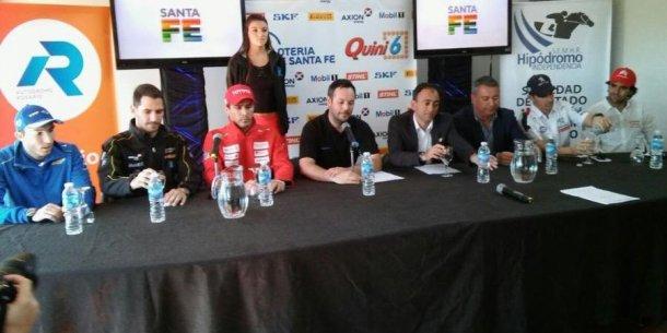 Pilotos y dirigentes de la categoría estuvieron hoy en Rosario en el lanzamiento de la carrera