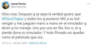 MADRUGADA POLÉMICA LUEGO DE LA VICTORIA DE PERNIA
