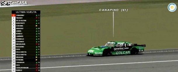 Canapino se quiere quedar con otro campeonato, en este caso el de TC Virtual