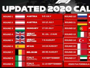 YA ESTA EL CALENDARIO 2020 DE LA F1
